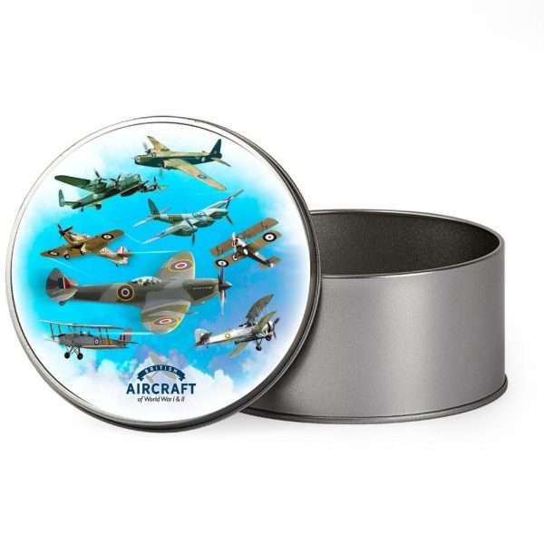 ww1 aircraft tin gift