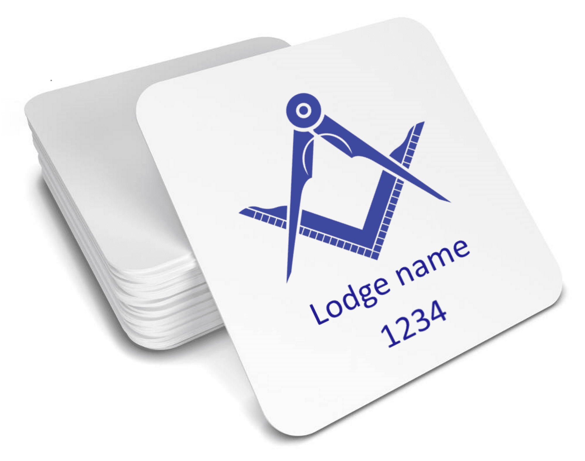 Masonic drinks coaster - Lodge number and number