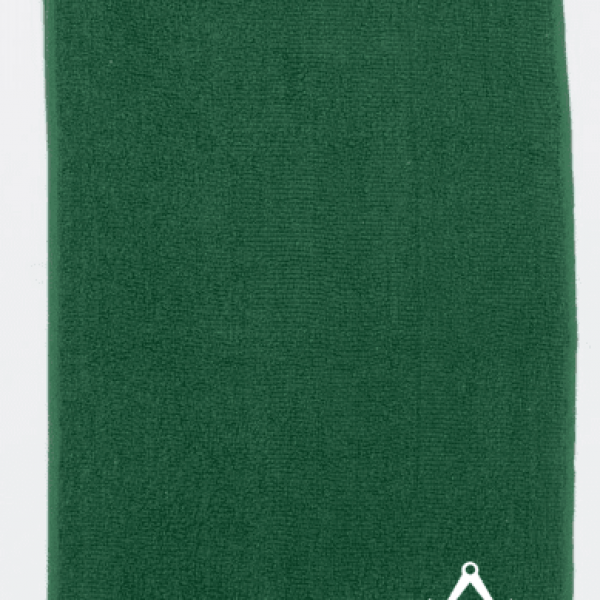 Masonic golf towel - Green med