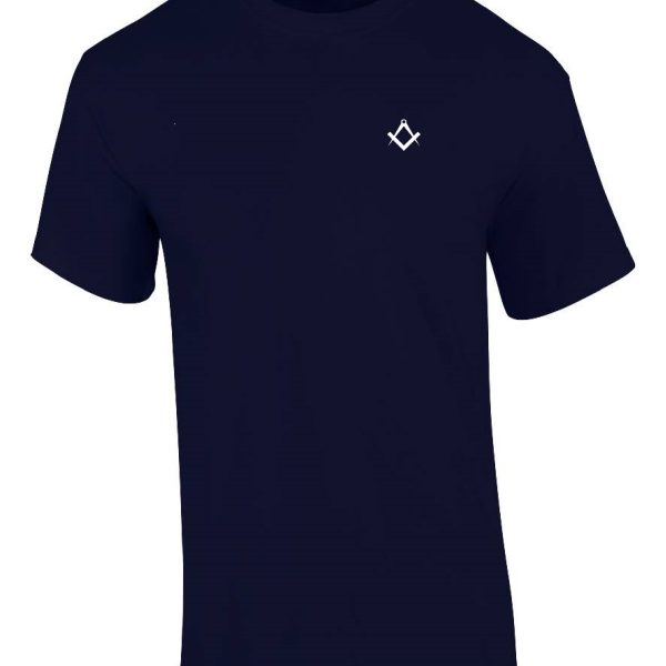 Navy Blue masonic t-shirt front